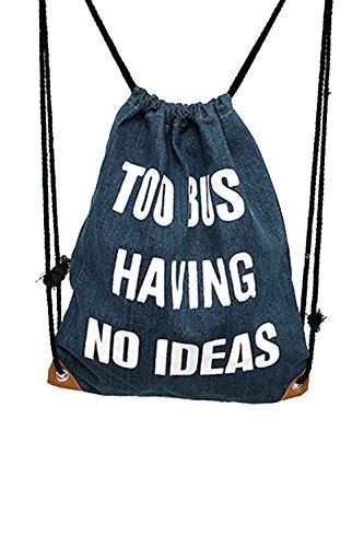 Vococal® Damen Tragbare Faltbare Vintage Canvas Verstellbarer Kordelzug Henkeltaschen Geringes Gewicht Tunnelzug Rucksäcke Rucksackhandtaschen, Geometrische Muster #4