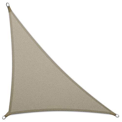 casa pura Sonnensegel Wasserabweisend imprägniert   Dreieck   Testnote 1.4   UV Schutz Größen (grau, 3,6 x 3,6 x 5,1 m)