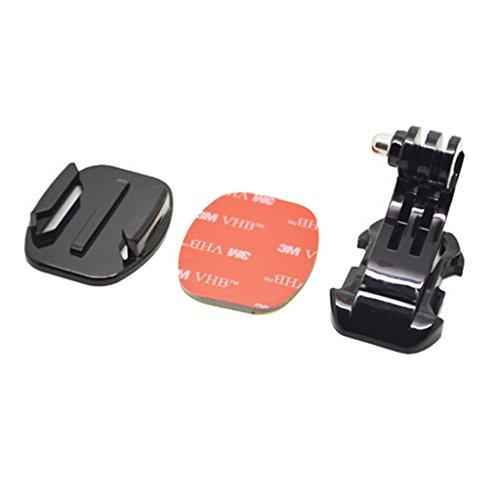 3 Stück Gebogene (8 Stück Neue Schwarze Kamera Wohnung Gebogene Halterung Halter Helm Basis-Kit für GoPro Hero 3 4)