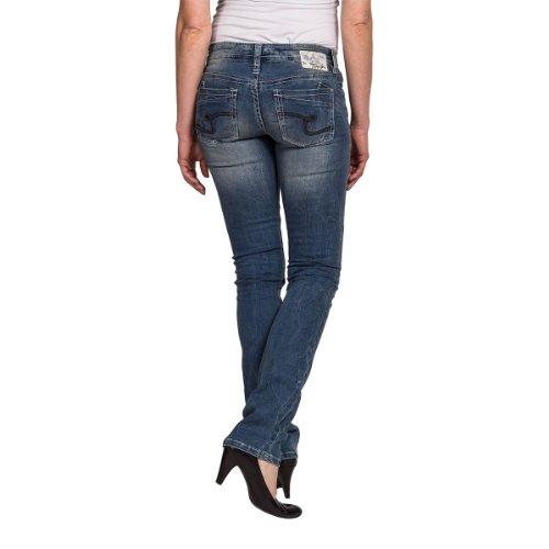 Timezone - Jeans - Droit - Femme Bleu (Street Wash 3352)