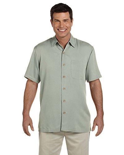 Devon & Jones Men's Short Sleeve Isla Button Down Camp Shirt D670