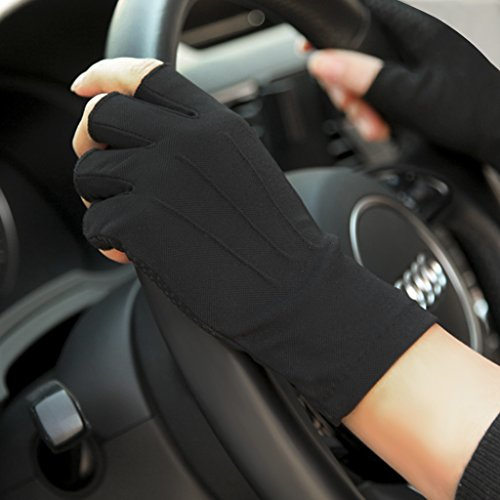 Mens-Half-Finger-Summer-Mesh-Driving-Gloves-Cycling-Cotton-Gloves-Sport-GYM-Fitness-Workout-Fingerless-Racing-Mitts-Non-slip-Silicone-Breathable-Short-Fingerless-Riding-Motorcycling-Gloves