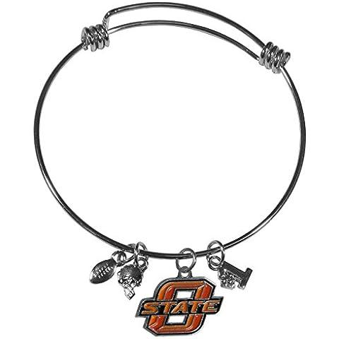 NCAA Oklahoma State Cowboys Charm Bangle Bracelet by Siskiyou - Oklahoma State Charm
