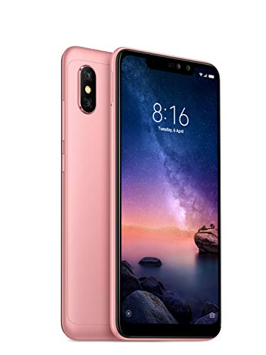 Xiaomi Redmi Note 6 Pro - 64GB 6.26-Inch Android 8.1 UK Version SIM-Free Smartphone - Rose Gold (Official UK Launch)