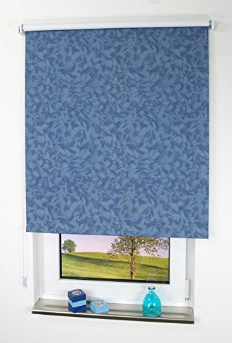 Liedeco® Rollo, Fenster Rollo, Kettenzug-Rollo / 182 x 180 cm (Breite x Höhe), wolken blau / Stoff mit Dekor, Lichtdurchlässig, Blickdicht / viele Farben, Größen und Typen / Breiten 60-200 cm / variable Montage möglich / Hergestellt in Deutschland (Dekor Decke Hohe)