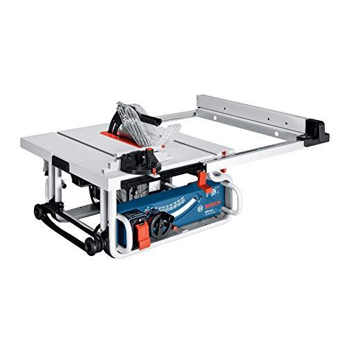 Bosch Professional Tischkreissäge GTS 10 J (Winkelanschlag, Parallelanschlag, Absaugadapter, Sägeblatt, Schiebestock, Karton, Sägeblatt-Ø: 254 mm, Tischgröße: 642 x 634 mm, 1800 Watt) 0601B30500