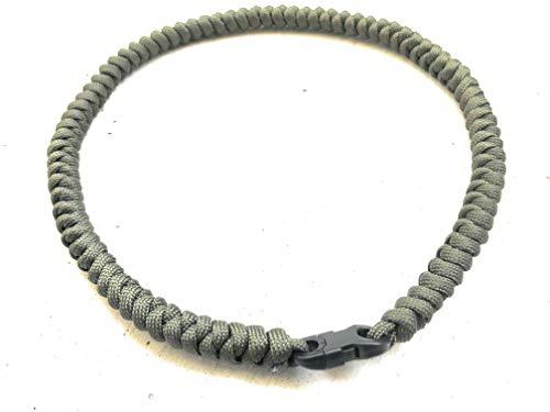 WALDLIFE Outdoor Survival Halskette für Frauen und Männer aus echtem Paracord 550 (olivgrün, 47 cm)
