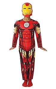 Rubies Disfraz de Iron Man Deluxe-Niños superhéroe de Los Vengadores, Modelo para disfraz
