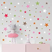 Arttop Colorful Star Wall Decal, Multicolor Sticker for Nursery Decoration, Mural Wall Decal Sticker for Home Children