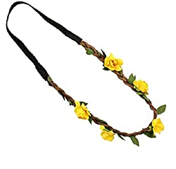 Aaishwarya Yellow Wild Flower Hairband