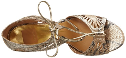 Dolce Vita Henlie Offener Spitze Animal Print Leder Mode-Stiefeletten Gold Snake
