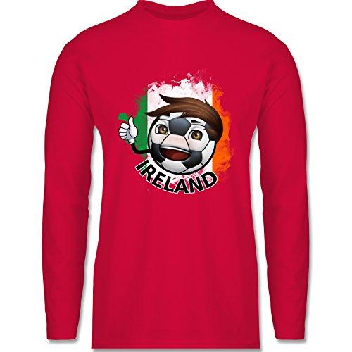 Shirtracer Fußball - Fußballjunge Irland - Herren Langarmshirt Rot
