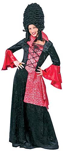 Gräfin Vampirin Kostüm für Damen - Schwarz Rot - Gr. 44/46