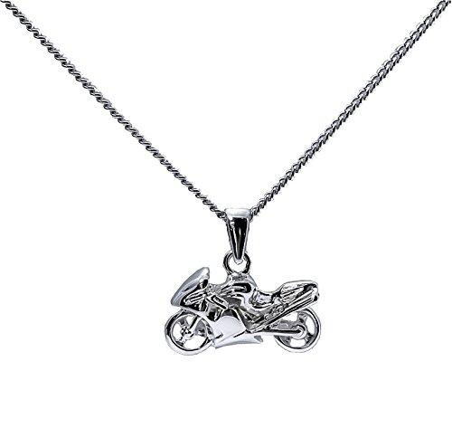 Anhänger Motorrad Herren Sterling-Silber 925massiv mit Kette und Schatulle bereit zu bieten ascalido®