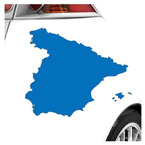 Kiwistar Spanien Umriss Kontur Aufkleber Sticker 25 Farben Neon Matt