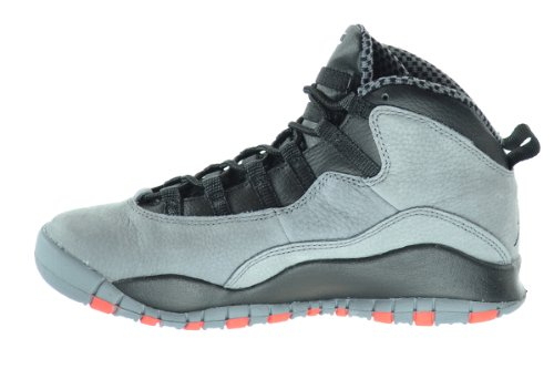 Nike - Air Jordan 10 Retro Bg, Scarpe sportive Bambino cool grey/infrared-black
