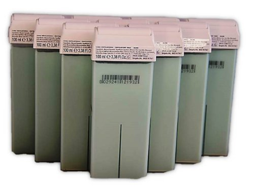 10 Wachspatronen 100ml Warmwachs Aloe-Vera für empfindliche Haut für Intim Haarentfernung Beine Arme Waxing Kosmetikstudio Profi Qualität