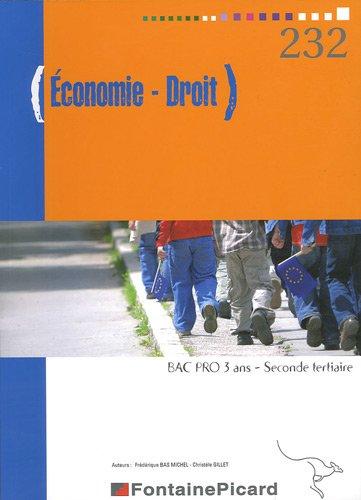 Economie - Droit 2e Bac pro 3 ans