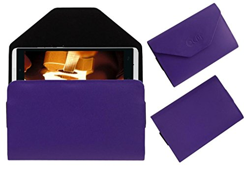 Acm Premium Pouch Case For Gionee Gpad G4 Flip Flap Cover Holder Purple  available at amazon for Rs.179