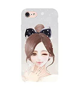 99Sublimation Sweet Winking Girl 3D Hard Polycarbonate Back Case Cover for Apple iPhone 7