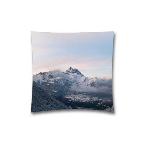 Cold mountain Snow Nomore Nature cloud Pillow case (due lati) - Christmas Birthday Gift