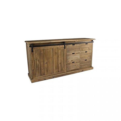 Enfilade industrielle en bois
