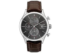 GANT W70403 - Reloj analógico de cuarzo para hombre con correa de piel, color marrón de Gant