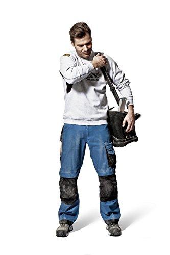 Snickers Logo Sweatshirt Gr. XXXL grau-schwarz