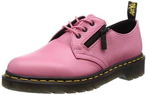 61 W/Zip Derby Schnürhalbschuhe, Pink (Soft Pink Aunt Sally), 42 EU (Schwarz Und Pink Dr. Martens)