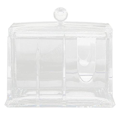 Boîte de Maquillage Rangement de Coton-tige Support Cosmétique Acrylique
