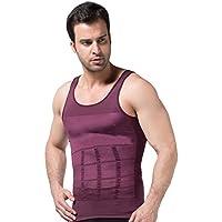XiaoGao Men \'s Body Shaping Vests, la Cintura y el Cuerpo de Mallas,Purple L