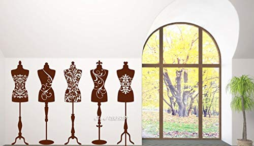 Couture Vinyl Wall Sticker Schönheit Mode Studio Kleid Schaufensterpuppen Tapetensticker Neuankömmlinge künstlerische Gestaltung Wallpaper SA838