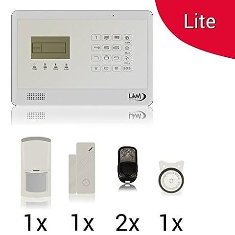 Diebstahlsicherung Alarm Kit GSM Wireless PIR Schutzhülle kabellos Mod.B1