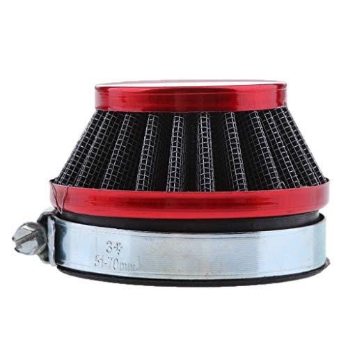 FLAMEER 58mm Roter Luftfilter Für Gas Motorisierte Fahrrad Mini ATV Dirt Pocket Bikes