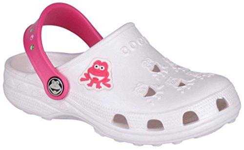 Coqui sabots pour enfant unisexe chaussures **lilas, fuchsia, bleu, rouge, bleu, jaune, rouge, bleu, noir ** - pearl/melone
