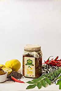 Lemon South Indian Pickle in Oil With Red Chilli/Nibu Ka Achar 400 gm - Homemade, Farm fresh, Preservative Free & Traditional Taste