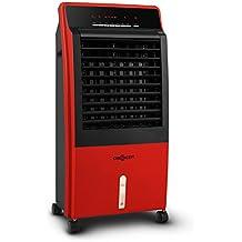 oneConcept CTR-1 Condizionatore ventilatore portatile 4 in 1, umidificatore, depuratore aria (65 Watt, 8 litri, regolabile 3 livelli, timer, telecomando) rosso