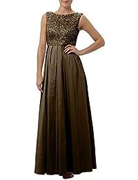 a36aecdf76d2 La mia Braut TAFT Lang Abendkleider Ballkleider Brautmutterkleider  Festlichkleider A-Linie Rock mit Zahlreichen Pailletten
