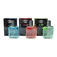 Umbro 60ml Eau De Toilette Spray Bundle - 3 Items - Aftershave Collection for Men