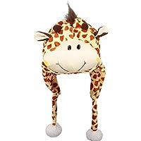 V-SOL Sombrero Gorro Disfraz Cosplay De Animal Adulto Niños Terciopelo Cubierta De Oreja Orejera (Jirafa)