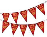 party-decor 2019 Year of the Pig Chinese New Year 新年快乐 / 新年快樂 Bunting Banner 15 flags for guaranteed simply stylish party decoration