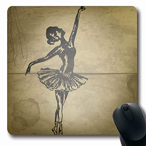Luancrop Mousepads Tanz Aquarell Künstler Zeichnung Ballerina Tinte auf Alten antiken Ballett schwarzer Körper Kostüm Kunst rutschfeste Gaming Mouse Pad Gummi längliche Matte (Körper Kunst Kostüm)
