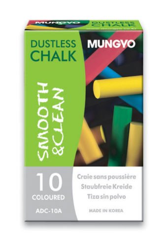 Mungyo Dustless Chalk - Assorted colors - 10x10 set (100 chalks total)