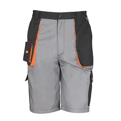 Result - Work-Guard - Pantaloni Corti da Lavoro - Unisex/Adulti (M) (Grigio/Nero/Arancione)