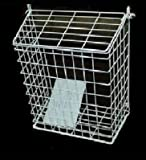 Letterbox Cage Door Letter Guard Basket Mail Catcher Post Box White 48h courier MarkUK® (White, 35x25x13cm Medium)
