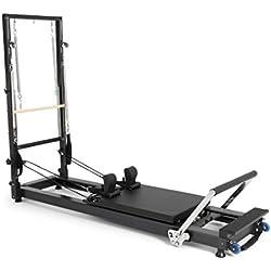 ELINA PILATES. Reformer DE Aluminio HL 1 con Torre – Máquina Pilates para Profesionales. 22 cm Altura de Cama. Reformer desarrollado por técnicos Expertos en Pilates de Todo el Mundo.