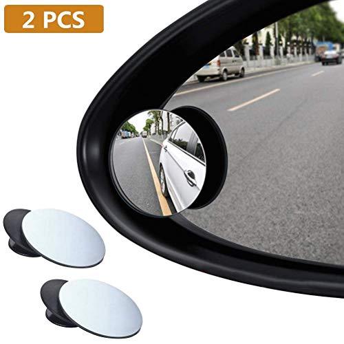 BUYGOO 2PCS Auto Toter Winkel Spiegel - Totwinkel Spiegel Auto 360 Grad Rotation verstellbar, Weitwinkelspiegel Selbstklebende Blindspiegel für alle Autospiegel