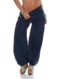 malito Culotte Bouffante classique Design Harem Pantalon Sweatpants Boyfriend pantalon Aladin Yoga 3417 Femme Taille Unique