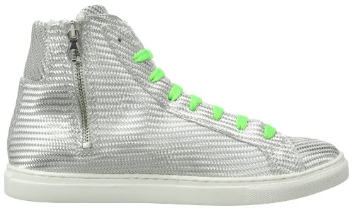 P1 220 bpm Twill Damen Sneaker Silber (Silver Twill)