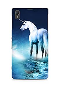 AMEZ designer printed 3d premium high quality back case cover for Sony Xperia Z1 C6902 (unicorn.JPG)